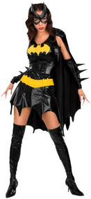Ladies Batgirl Fancy Dress Costume