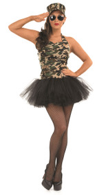 Ladies Military Tutu Fancy Dress Costume