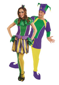 Couples Carnival Jester Fancy Dress Costumes