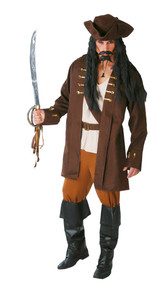 Mens Pirate Captain Fancy Dress Costume 1