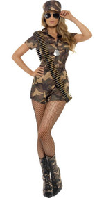 Ladies Army Cadet Fancy Dress Costume