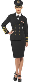 Ladies Naval Officer Fancy Dress Costume
