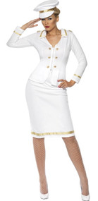Ladies Classy Captain Fancy Dress Costume