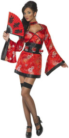 Ladies Geisha Party Girl Fancy Dress Costume