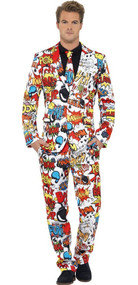 Mens Comic Book Suit Fancy Dress Costume