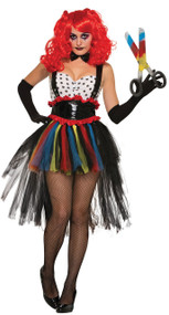 Ladies Evil Clown Fancy Dress Costume