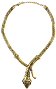 Ladies Gold Snake Necklace