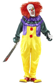 Mens Classic Horror Clown Fancy Dress Costume