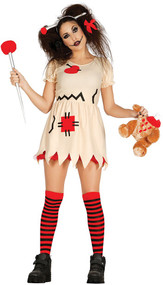 Ladies Voodoo Doll Fancy Dress Costume