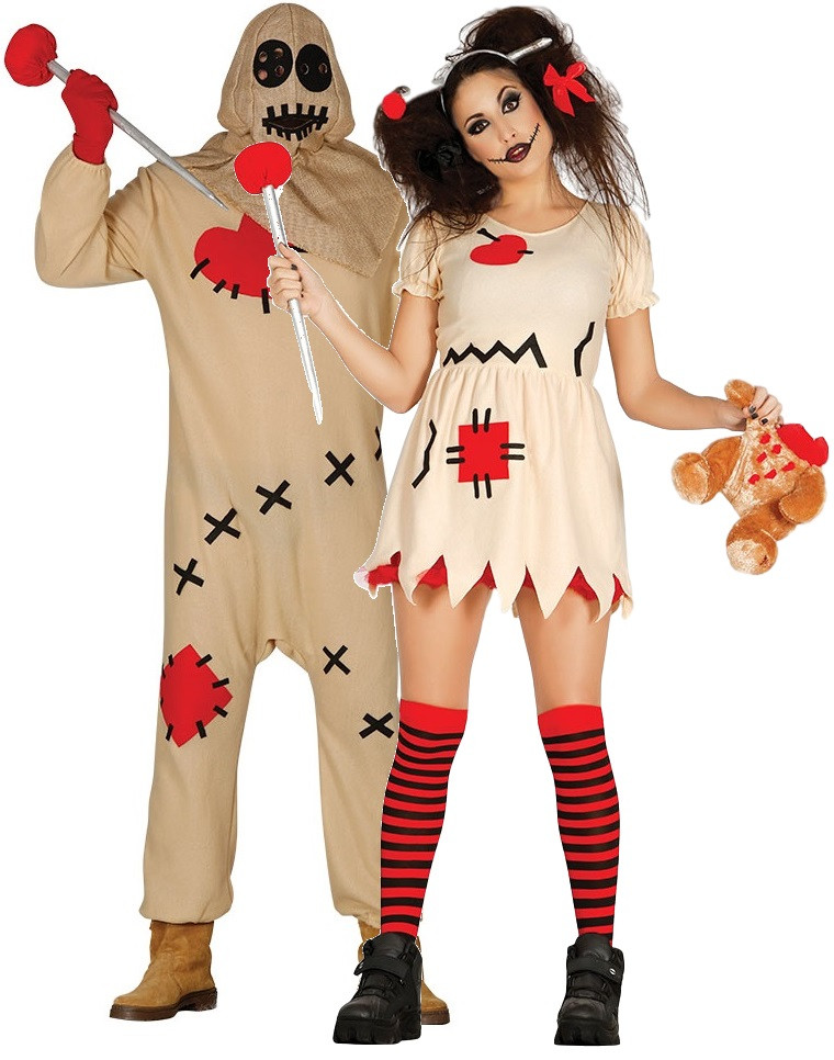 couples voodoo doll fancy dress costumes fancy me limited