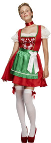 Ladies Traditional Christmas Dirndl Fancy Dress Costume