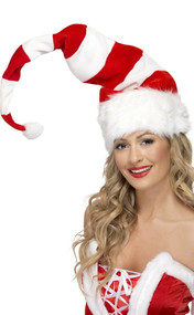 Adult Candy Cane Santa Hat