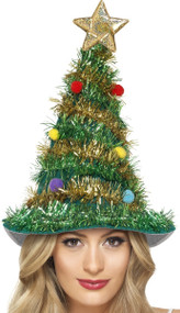 Adult Deluxe Christmas Tree Hat