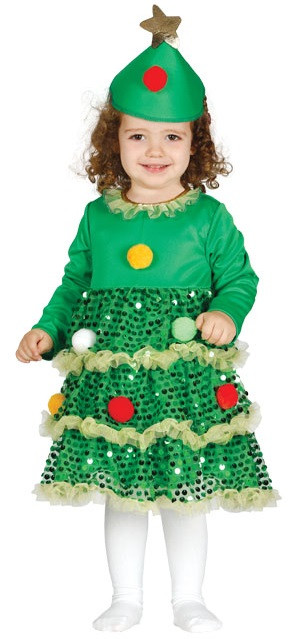 Baby Christmas Tree Fancy Dress Costume - Fancy Me Limited