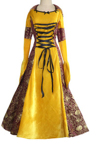 Ladies Deluxe Medieval Fancy Dress Costume