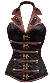 Ladies Halterneck Steampunk Fancy Dress Corset