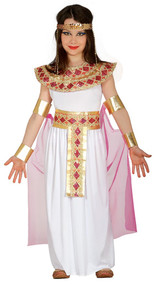Girls Pink Cleopatra Fancy Dress Costume