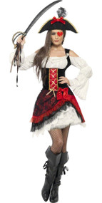 Ladies Sweetheart Pirate Fancy Dress Costume