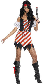 Ladies Sexy Swashbuckling Pirate Fancy Dress Costume