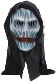 Adults Hooded Ghost Overhead Rubber Mask With Hood