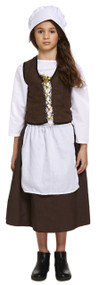 Girls Victorian Maid Fancy Dress Costume 1