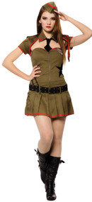 Ladies 5 Piece Sexy Soldier  Fancy Dress Costume