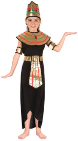 Girls 5 Piece Queen of The Nile Fancy Dress Costume