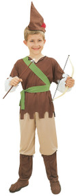 Boys 5 Piece Robin Hood Fancy Dress Costume