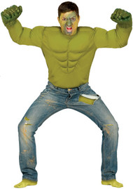 Mens Angry Hero Fancy Dress Costume