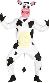 Adult Comical Cow Fancy Dress Costume