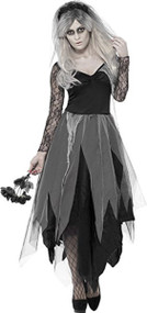 Ladies Corpse Bride Fancy Dress Costume 1