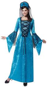 Ladies Medieval Princess Fancy Dress Costume 1