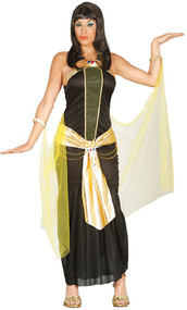 Ladies Dark Egyptian Queen Fancy Dress Costume