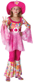 Girls Diva Hippy Fancy Dress Costume