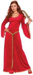 Ladies Ruby Priestess Fancy Dress Costume