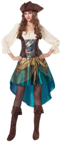 Ladies Pirate Princess Fancy Dress Costume