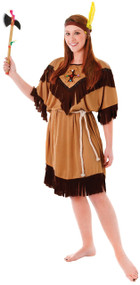 Ladies Native American Indian Fancy Dress Costume 1