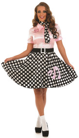 Ladies Pink 50s Lady Fancy Dress Costume