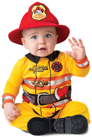 Baby Fearless Firefighter Fancy Dress Costume