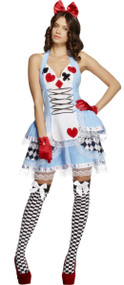 Ladies Miss Wonderland Fancy Dress Costume