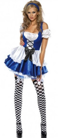 Ladies Sexy Alice Fancy Dress Costume