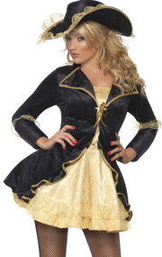 Ladies Swashbuckling Pirate Fancy Dress Costume