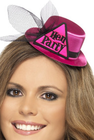 Ladies Pink Hen Party Mini Hat