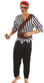 Mens Pirate Deck Hand Fancy Dress Costume