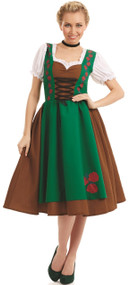 Ladies Traditional Bavarian Girl Fancy Dress Costume