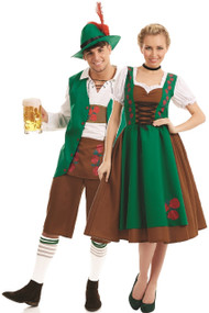 Couples Traditional Bavarian Fancy Dress Costume