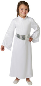 Girls Official Princess Leia Fancy Dress Costume
