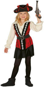 Girls Skull Pirate Fancy Dress Costume 1