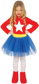 Girls Superhero Tutu Fancy Dress Costume 1