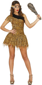 Ladies Sexy Tutu Cavegirl Fancy Dress Costume